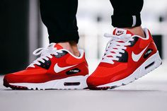 Nike Air Max 90 Ultra Essential 'Action Red/Pure Platinum' - sneaker news, info & exclusive updates {Adidas, Asics, Converse, New Balance, Nike, Puma, Reebok, Saucony, Vans, ...}