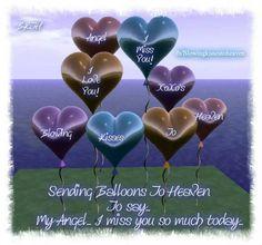 Sending balloons to heaven