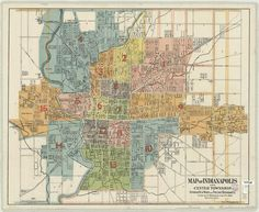 Land Use Plan Of Marion County Indianapolis 1969  Maps
