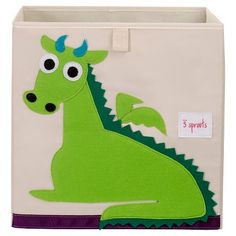 3 Sprouts Fabric Cube Storage Bin - Dragon : Target