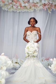 Lace Dress Styles, Wedding Dress Styles, Bridal Gowns, Wedding Gowns, Bridal Outfits, Wedding Bells, Ghana Dresses, African Print Wedding Dress, Engagement Dress For Bride