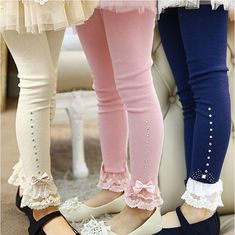 In Stock! Hello Kitty Girls lace bow Leggings princess Girls panty hose Kid pants child Leggings 2 6 years Little Spring K1 Warm-in Pants from Apparel