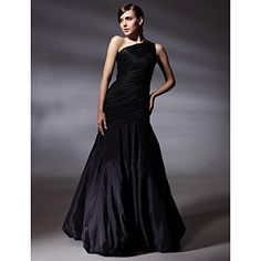 TS+Couture®+Prom+/+Formal+Evening+Dress+-+Elegant+Plus+Size+/+Petite+Trumpet+/+Mermaid+One+Shoulder+Floor-length+Taffeta+with+Side+Draping+–+USD+$+109.99