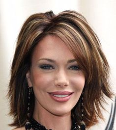 Over 40 Hairstyles with Bangs - Bing Images Medium Hair Styles For Women, Bangs With Medium Hair, Medium Hair Cuts, Short Hair Cuts, Short Hair Styles, Medium Curly, Medium Layered, Over 40 Hairstyles, Cool Hairstyles