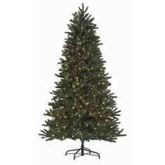 Holiday Living 7-1/2-ft Englewood Pine Pre-lit One Plug Quick Connect Christmas Tree with White LED Lights  Item #: 243778 |  Model #: W14L0099| $248.00 at Lowe's.