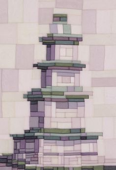Chic patchwork that shape the tower !!! : Naver blog