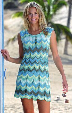 "Photo from album ""Online striktrends (Jahrgang 2017 / Deutschland)"" on Yandex. Crochet Summer Dresses, Big Knits, Dior Haute Couture, Crochet Blouse, Knit Fashion, Diy Dress, Beautiful Crochet, Vintage Crochet, Crochet Clothes"
