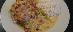 Underbar kycklinggratäng med superb sås - Matklubben.se Chutney, Food And Drink, Gourmet, Easy Meals, Chutneys