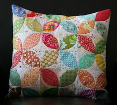 Pretty Flower Pillow by Crazy Mom Quilts