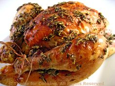 Roast Cornish Game Hens with Red Wine
