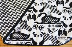 Black and White Animals Reversible Quilted by ModernHandcraft, $65.00