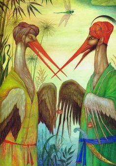 Kalif Storch, Children's Book Illustration, Childrens Books, Illustrators, Fairy Tales, Creatures, Nature, Storks, Children