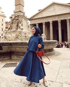 Semi Formal Hijab Outfit Ideas That Everyone Can Copy Street Hijab Fashion, Muslim Fashion, Modest Fashion, Girl Fashion, Fashion Outfits, Fashion Poses, Hijab Dress, Hijab Outfit, Hijab Casual