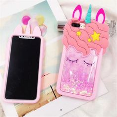 2 in 1 Glitter Phone Case (Black) + Screen Protector, Compatible with iPhone 6 Plus/iPhone Plus Smartphone Iphone, 3d Iphone Cases, Iphone 8, Apple Iphone, Ipod Cases, Cute Cases, Cute Phone Cases, Capas Samsung