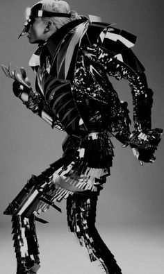 cyberpunk, cyber fashion, future fashion, black dress, black clothes