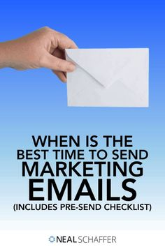 Trying to figure out when is the best time to send marketing emails? Look no further: Use this checklist for email marketing best practices! Email Marketing Design, Email Marketing Strategy, Marketing Software, Email Design, Online Marketing, Social Media Marketing, Marketing Tactics, Social Business, Email Campaign