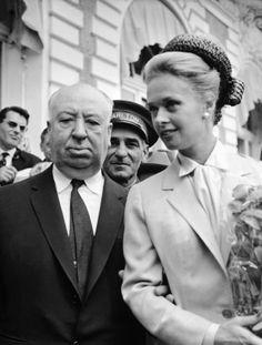 Hitchcock & Tippi Hedren 1963