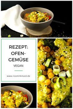 Veganes Ofengemüse mit einer zitronigen Kichererbsen-Dill-Soße. Ein schnelles, einfaches Gericht mit gesunden Zutaten für laue Sommerabende. Klick dich zum Rezept oder speichere es für später ab!