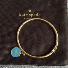 Kate Spade bracelet Kate spade bangle bracelet received as a gift never used this is for a Capricorn lover on the back says she's one smart cookie make offers no trades kate spade Jewelry Bracelets