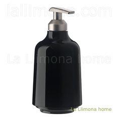 Dosificador baño pump negro. http://www.lallimona.com/online/bano/