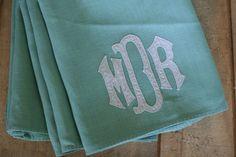 vintage monogram linen napkins @ suesuegonzalas