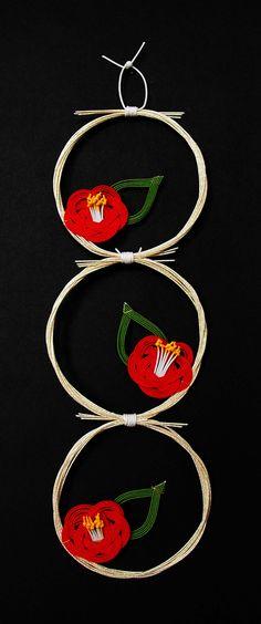 Mizuhiki paper cord art.
