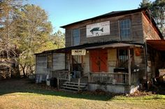 Hazel Frawley's General Store, on the Ogeechee River, Scarboro, GA. Photo by Brian Brown from Vanishing South Georgia  -My Hometown