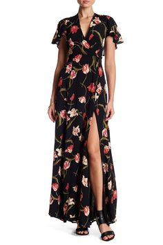 Summer wedding ready.  Privacy Please Floral Printed Moni Maxi Dress