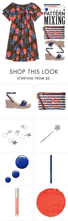 """""""Stay Bold: Pattern Mixing"""" by beebeely-look ❤ liked on Polyvore featuring STELLA McCARTNEY, Tommy Bahama, Topshop, Smashbox, Ilia, Givenchy, preppy, ruffles, summersandals and patternmixing"""