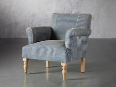 Eliza Chair in Coastal | Arhaus Small Living Room Chairs, Living Room Furniture, Side Chairs, Dining Chairs, Dining Room, Vintage Chairs, Toss Pillows, Furniture Inspiration, Club Chairs
