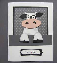 28 New Ideas funny kids birthday cards punch art Kids Birthday Cards, Funny Birthday Cards, Birthday Humorous, Cow Birthday, Birthday Sayings, Sister Birthday, Birthday Images, Punch Art Cards, Animal Cards