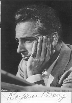 """Italy's Rossano Brazzi. Watch in """"Three Coins in the Fountain"""" (1954), """"Summertime"""" (1955), and """"South Pacific"""" (1958)."""