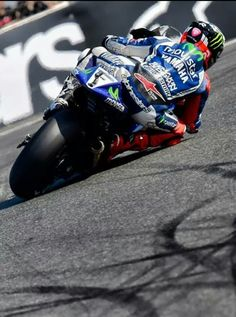 Jorge Lorenzo Always amazes me how far they lean the bikes over!  Incredible!