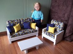 18 inch doll furniture set for American Girl by MadiGraceDesigns