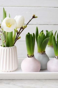 super DIY: hyacinths in wax – spring decoration in pastel - Dekoration Site / 2019 Spring Decoration, Decoration Bedroom, Flower Decorations, Christmas Decorations, Diy Crafts Love, Diy Dining Table, Diy Outdoor Furniture, Diy Presents, Deco Table