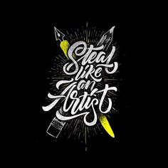Just know the difference between good theft and bad theft. Type by @davihero | #typegang if you would like to be featured | typegang.com | typegang.com #typegang #typography