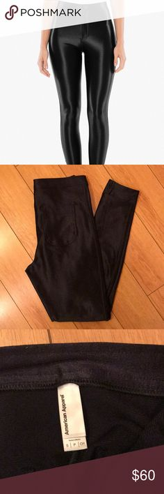 American apparel disco pant NEW Never worn! Ordered but too big on me and too late to return :( but these pants are so comfy and super flattering!! Discounted to cover shipping :) American Apparel Pants Skinny