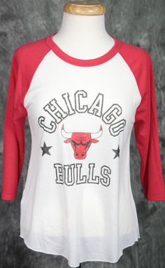 Chicago Bulls Mitchell   Ness Womens Down to the Wire Henley Shirt .  polyester   rayon oz lightweight jersey rib trim at neck binding ¾ length  sleeves Color ... b66c0f7164