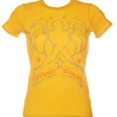 Junk Food Wonder Women t-shirt Pre-owned. Worn just a few times and absolutely love it but is too big for me. It is in really excellent condition with no flaws. The color is yellow mustard. Junk Food Tops Tees - Short Sleeve