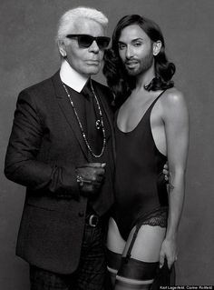 Conchita Wurst Shot By Karl Lagerfeld For New Issue Of CR Fashion Book - Eurovision champion Conchita Wurst continues to rule the world.  The Austrian drag queen and singer, 25, strikes a pose for legendary fashion designer Karl Lagerfeld in the forthcoming issue of CR Fashion Book -- and couldn't look more striking in haute couture.