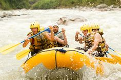 A white water rafting group.