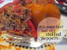 Recipe Rebels: DELI ROAST BEEF AND RICE STUFFED PEPPERS
