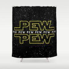 Pew Pew v2 Shower Curtain