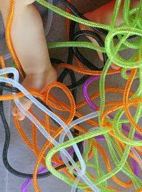 Fun at Home with Kids: No Mess Halloween Sensory Bin: Halloween Snakes