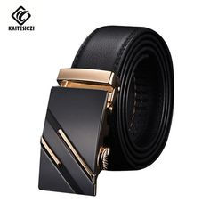 [KAITESICZI] Men's leather belt 2017 new high quality upscale men's suits leather belt Business Classic Hot belt