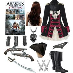 Assassin's Creed IV Black Flag (Female Outfit) by infinity-sabry on Polyvore featuring David Yurman and S.W.O.R.D.