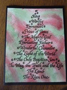 Names of God for Christmas