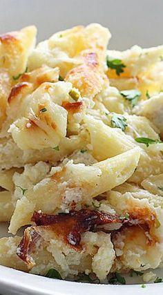 Chicken Alfredo Pasta Bake