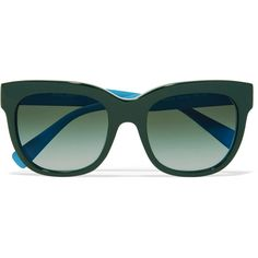 Dolce & Gabbana Square-frame acetate sunglasses (€88) ❤ liked on Polyvore featuring accessories, eyewear, sunglasses, occhiali, green, dolce gabbana eyewear, dolce gabbana glasses, acetate sunglasses, square frame glasses and uv protection sunglasses