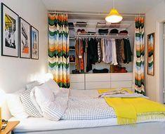 штора вместо дверей для шкафа